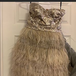 Bebe feather dress
